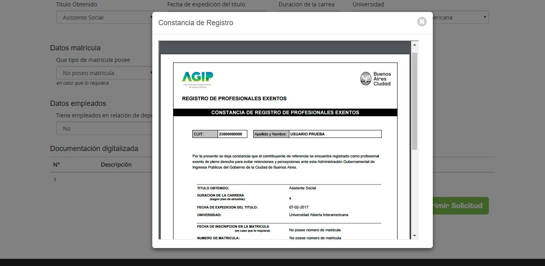 Agip ayuda registro de profesionales autodeclarados exentos for Inscripcion ingresos brutos